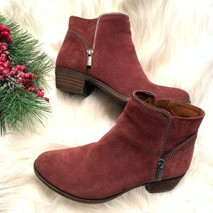 Lucky Brand Bartalino red suede bootie